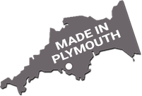 Manufactured in Plymouth logo