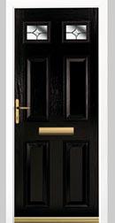 Composite Door Black Solid