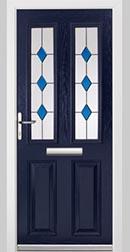 Dark Blue Wood Effect Door