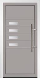 Part Glazed Aluminium Door