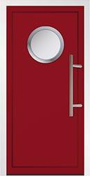 Red Aluminium Door
